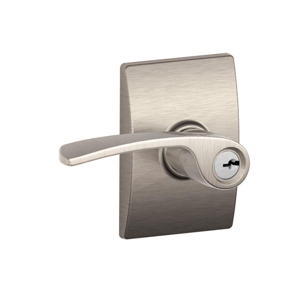 Century/Merano Satin Nickel Keyed Lever