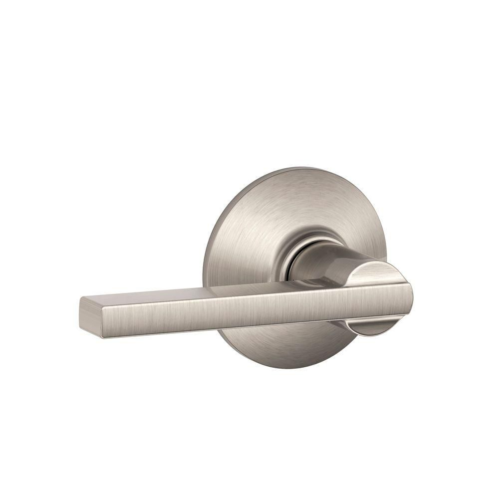 Latitude Satin Nickel Passage Lever