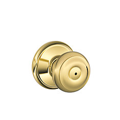 Georgian Bright Brass Privacy Knob
