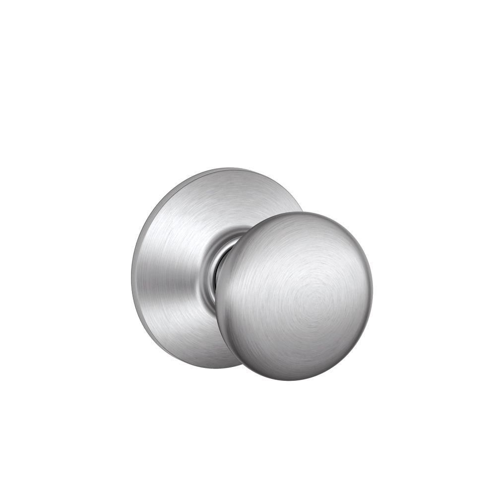 Satin Chrome Plymouth Passage Knob