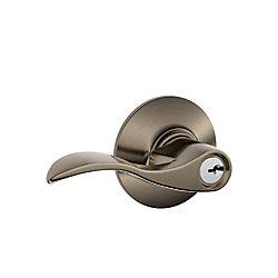 Schlage Poignée de porte à levier à clé Accent étain antique