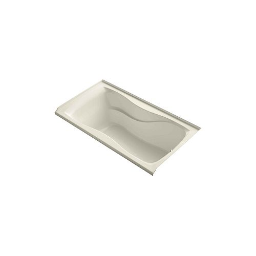"KOHLER Hourglass(R) 60"" x 32"" alcove bath with integral flange and right-hand drain"