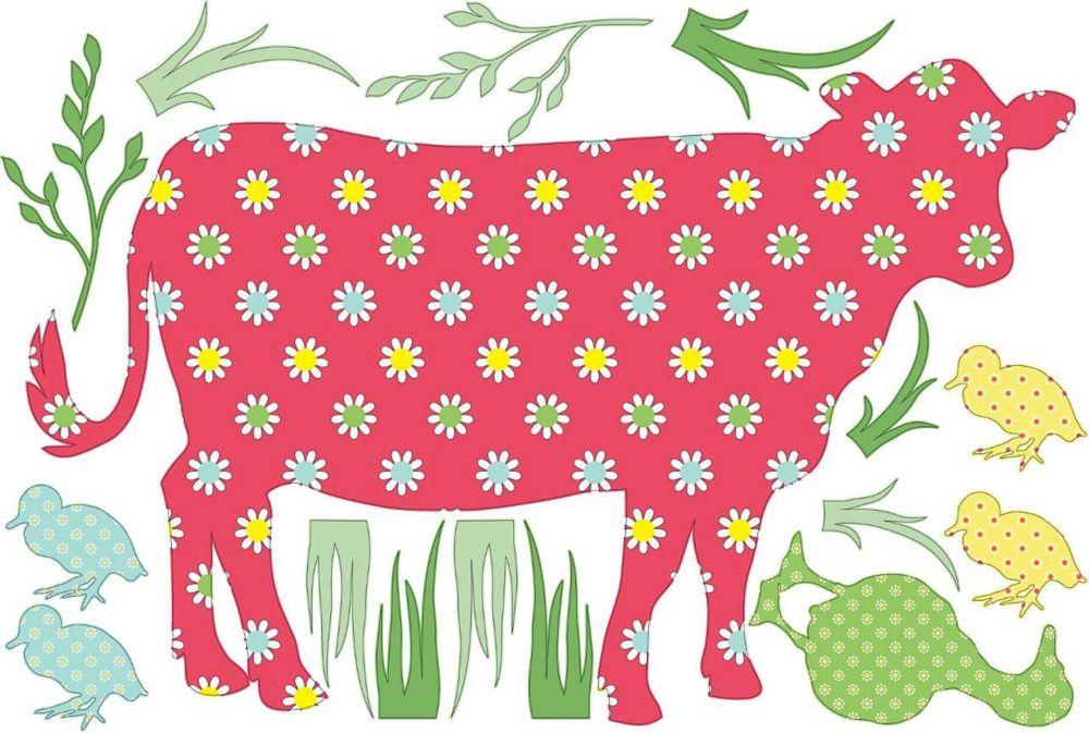 Appliqué Murale la vache Dakota.