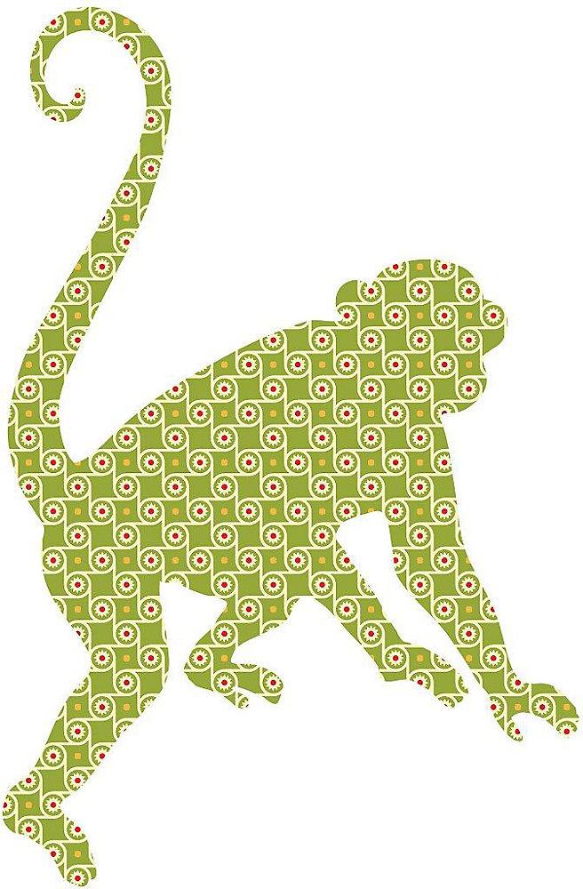 Antoinne the Monkey Wall Appliques