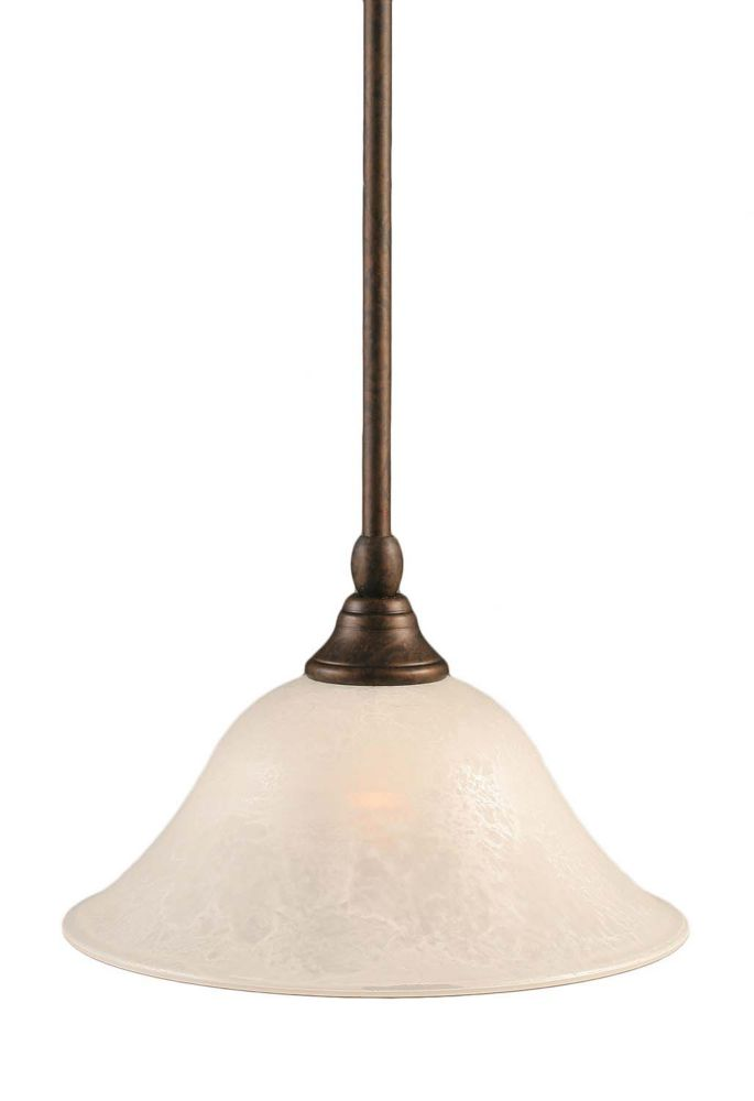 Filament Design Concord 1-Light Ceiling Bronze Pendant with a White Marble Glass