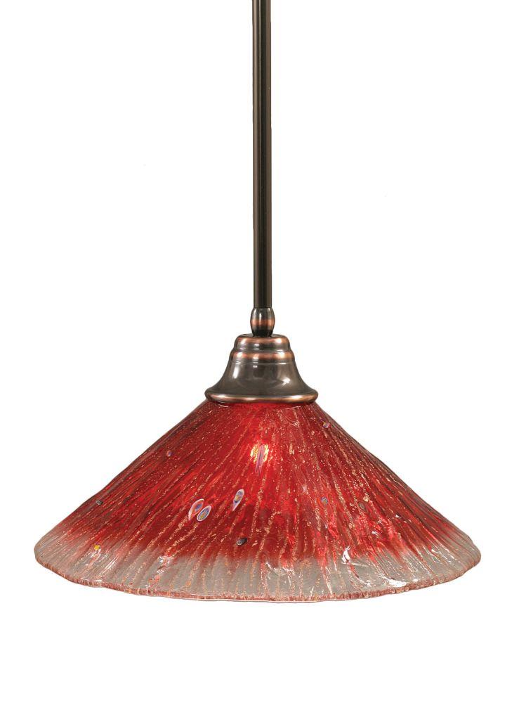 Concord 1 lumière au plafond Noir Copper Pendeloque à incandescence avec un cristal de verre Fram...