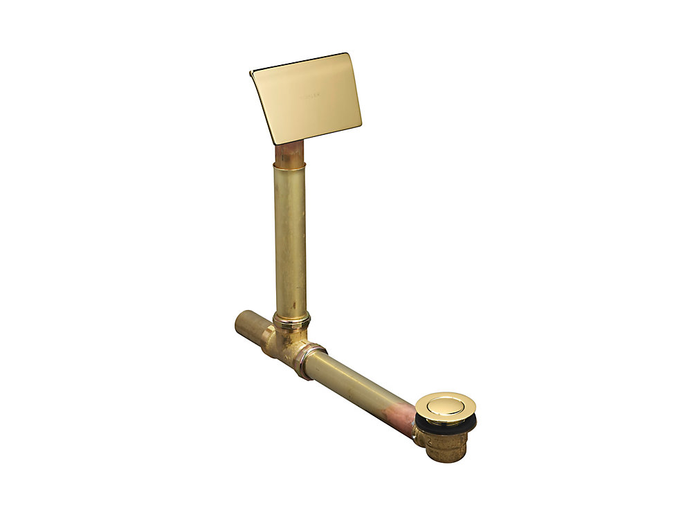 Clearflo 1-1/2 Inch Adjustable Pop-Up Drain with Contoured Overflow Hood in Polished Brass