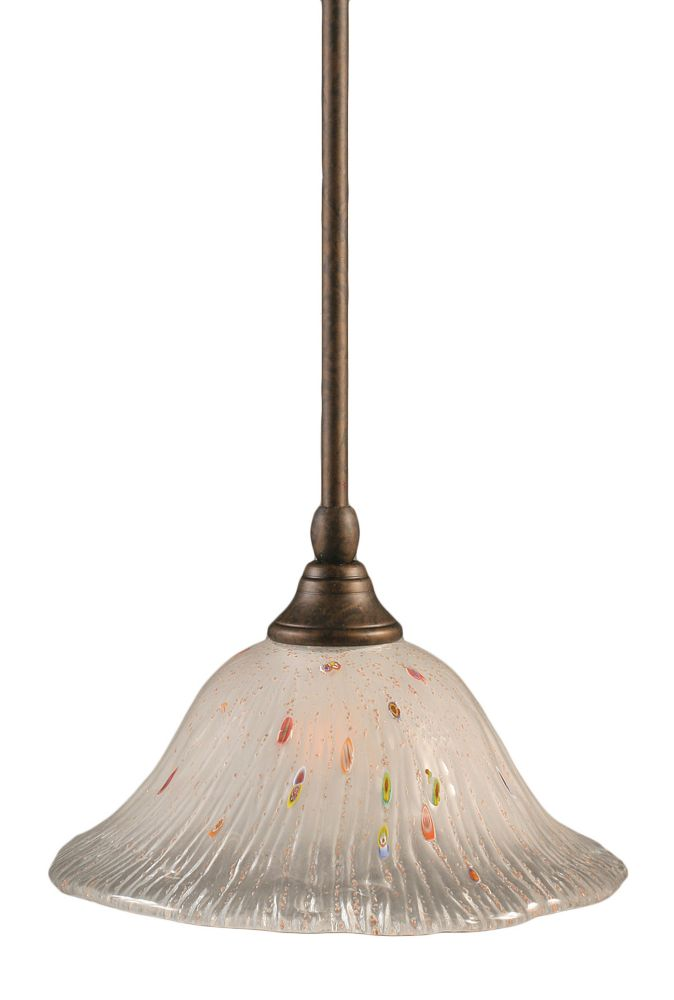 Filament Design Concord 1-Light Ceiling Bronze Pendant with a Frosted Crystal Glass