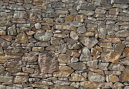 Komar 12 Feet 1 Inches x 8 Feet 4 Inches Stone Wall Mural   The Home ...