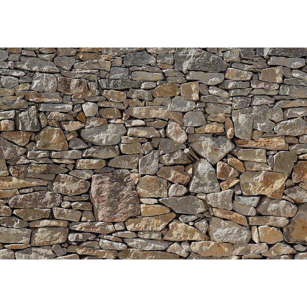 Komar 12 Feet 1 Inches x 8 Feet 4 Inches Stone Wall Mural