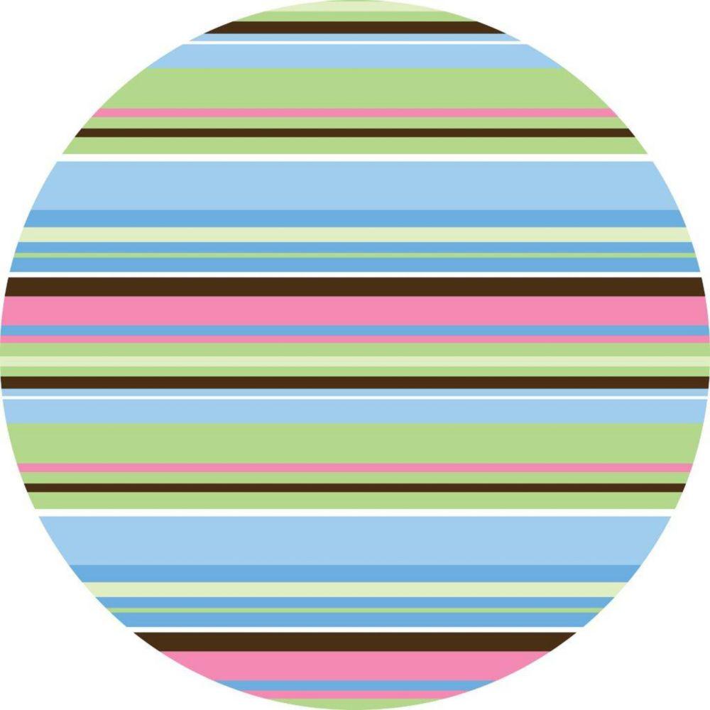 Ribbon Candy Blue Dot Wall Applique