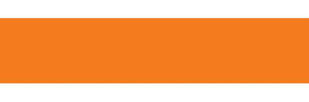 Appliqué Bande Total Orange 16 pi. x 6.5 po.             2 par paquet.