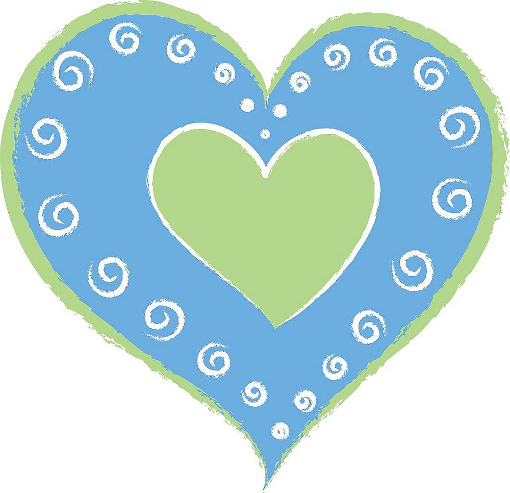Blue Heart of Heats Wall Appliques