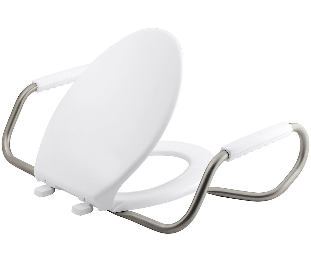 Lustra Elongated Front Closed Toilet Seat with Anti-Microbial Agent
