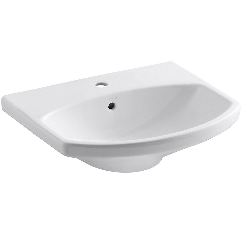 Cimarron(R) bathroom sink with single-hole faucet hole