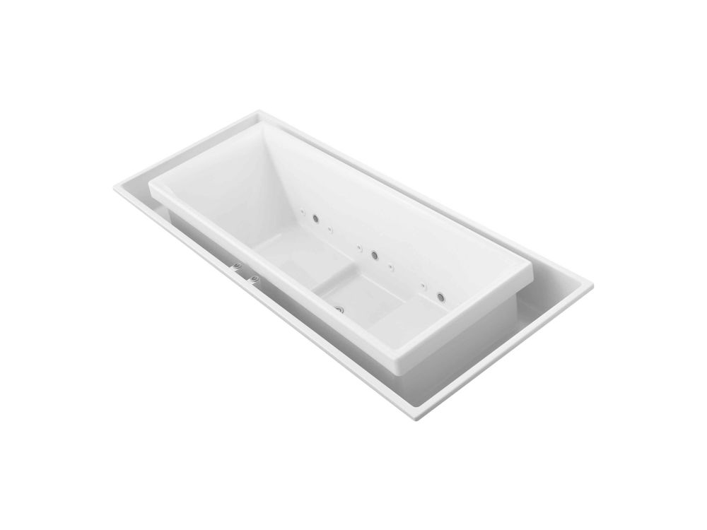 KOHLER Sok 6 Feet Acrylic Drop-in Whirlpool Overflowing Bathtub