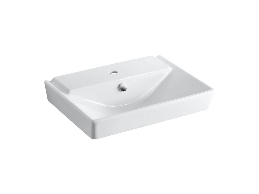 KOHLER Rêve(R) 23 inch pedestal bathroom sink basin with single faucet hole