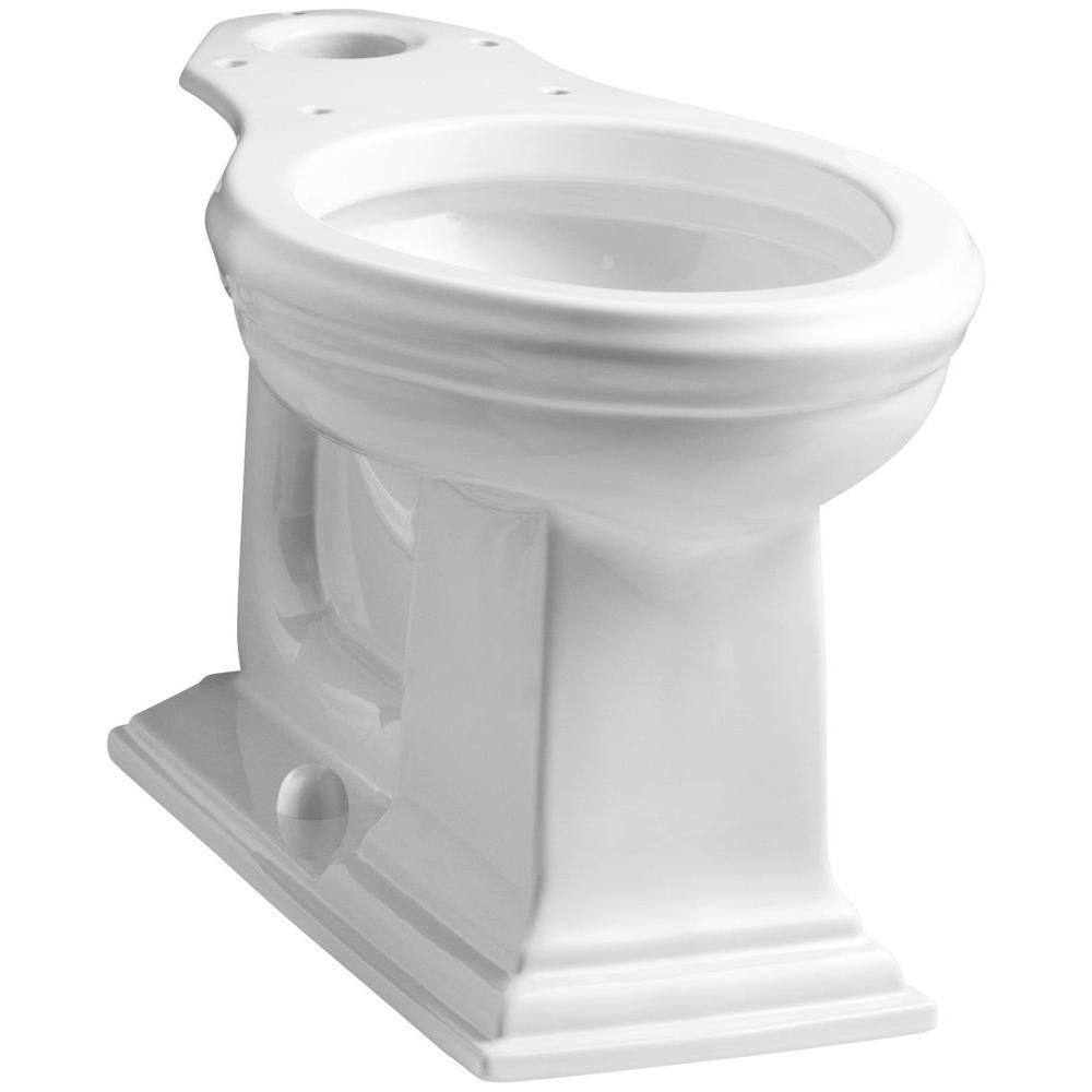 kohler memoirs comfort height elongated toilet bowl only in white the home depot canada. Black Bedroom Furniture Sets. Home Design Ideas