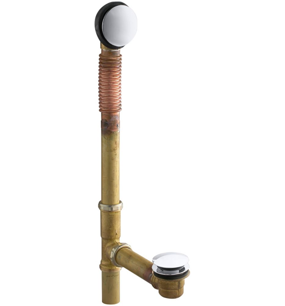 KOHLER Clearflo Brass Toe Tap Bath Drain