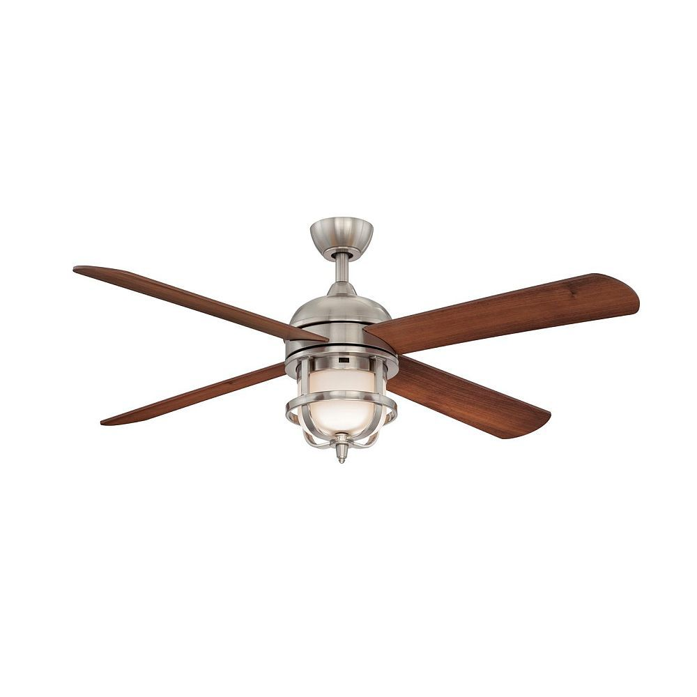 ... Inches Brushed Nickel Ceiling Fan with Light | The Home Depot Canada
