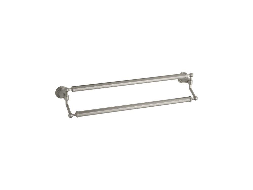 KOHLER Pinstripe(R) 24 Inch Double Towel Bar