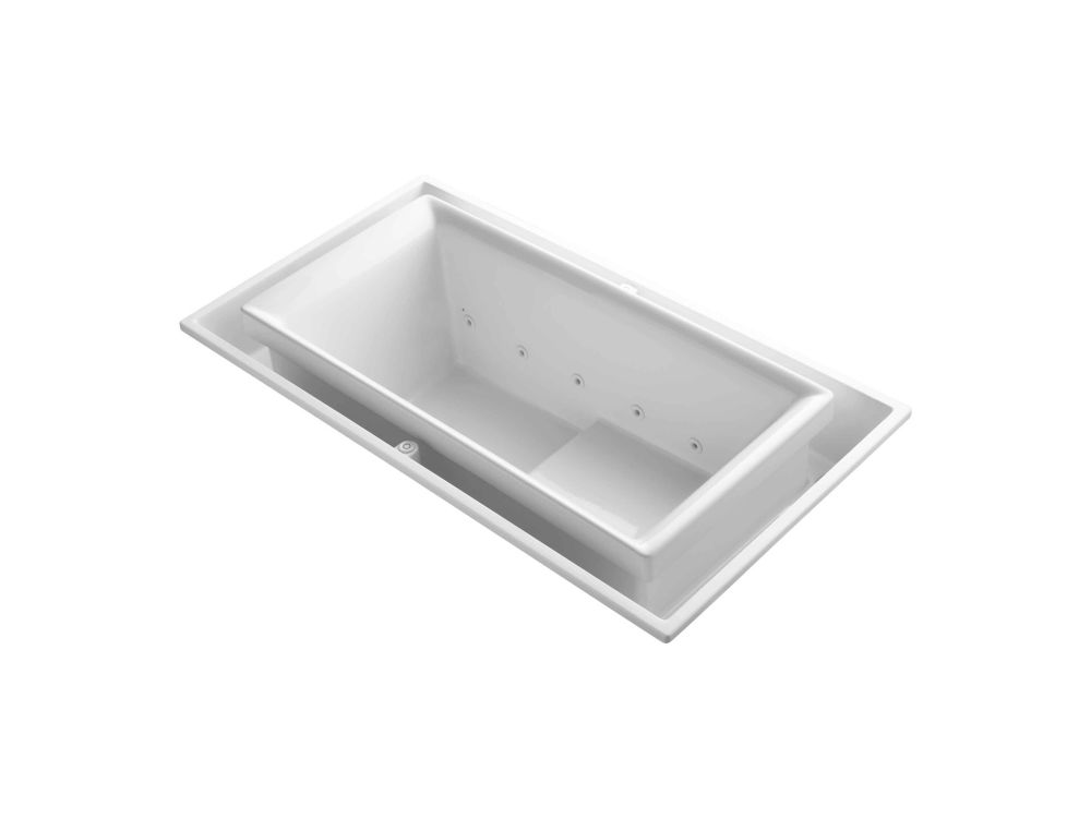 KOHLER Sok 5 Feet Acrylic Drop-in Whirlpool Overflowing Bathtub