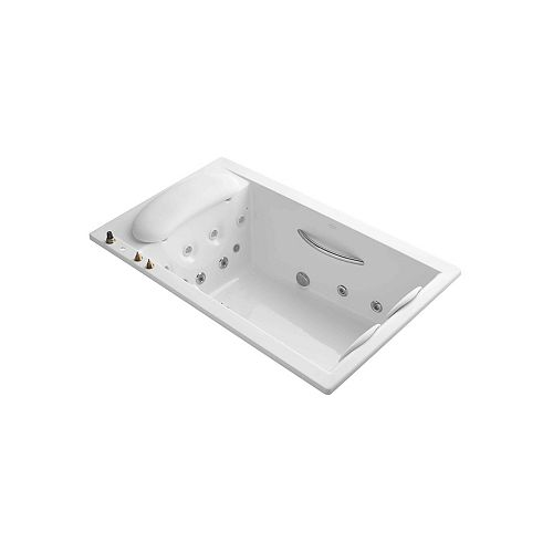 """KOHLER Riverbath(R) 75"""" x 45"""" drop-in whirlpool with integral fill, chromatherapy and heater"""