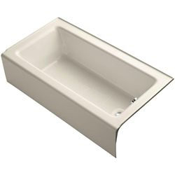 "KOHLER Bellwether(R) 60"" x 32"" alcove bath with integral apron and right-hand drain"