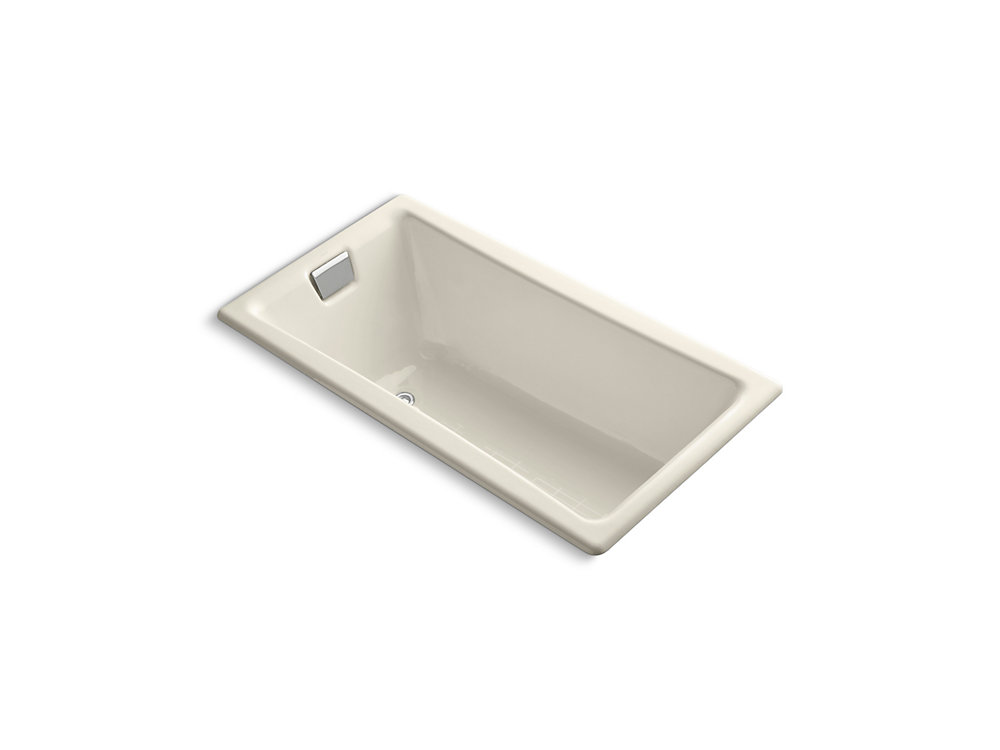 "Tea-for-Two(R) 60"" x 32"" drop-in bath with reversible drain"
