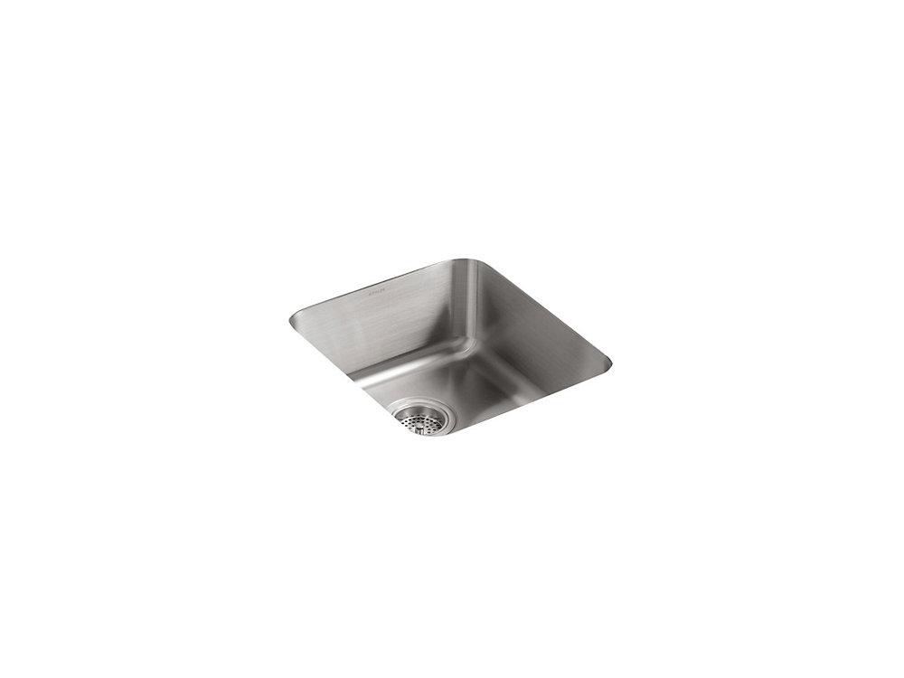 Undertone(R) Medium Squared Undercounter Kitchen Sink, 7-1/2 Inch Deep