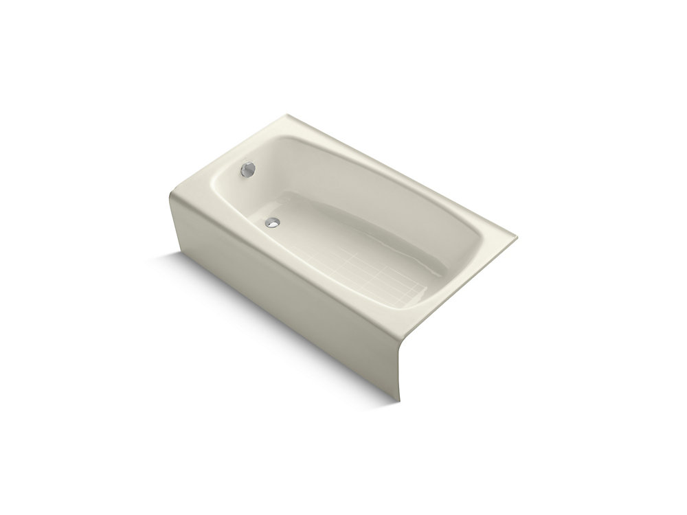 "Seaforth(TM) 54"" x 31"" alcove bath with left-hand drain"