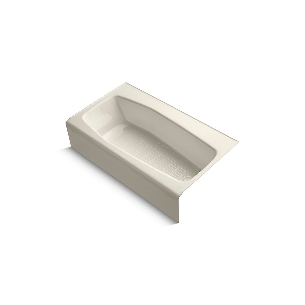 "KOHLER Villager(R) 60"" x 34"" alcove bath with right-hand drain"