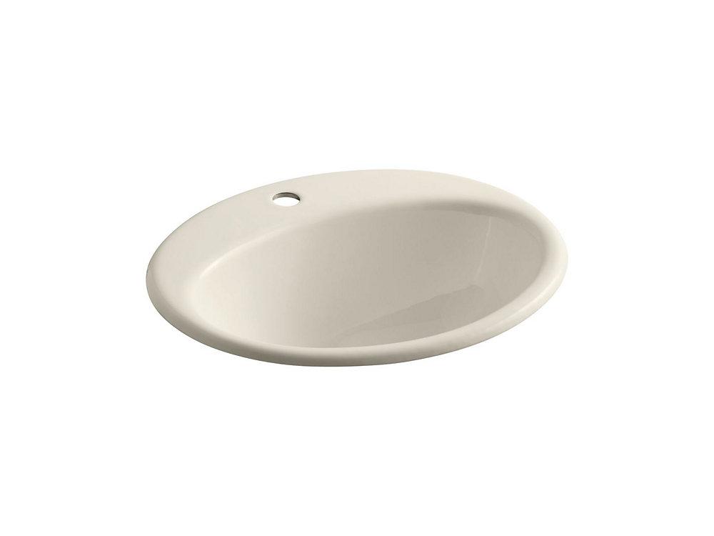 Farmington(R) drop-in bathroom sink with single faucet hole
