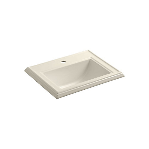 Memoirs(R) Classic drop-in bathroom sink with single faucet hole
