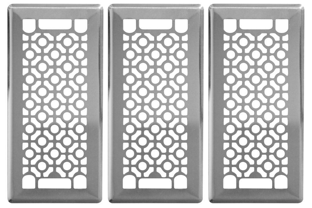 Trio de grilles de ventilation 4x10 Cosmos