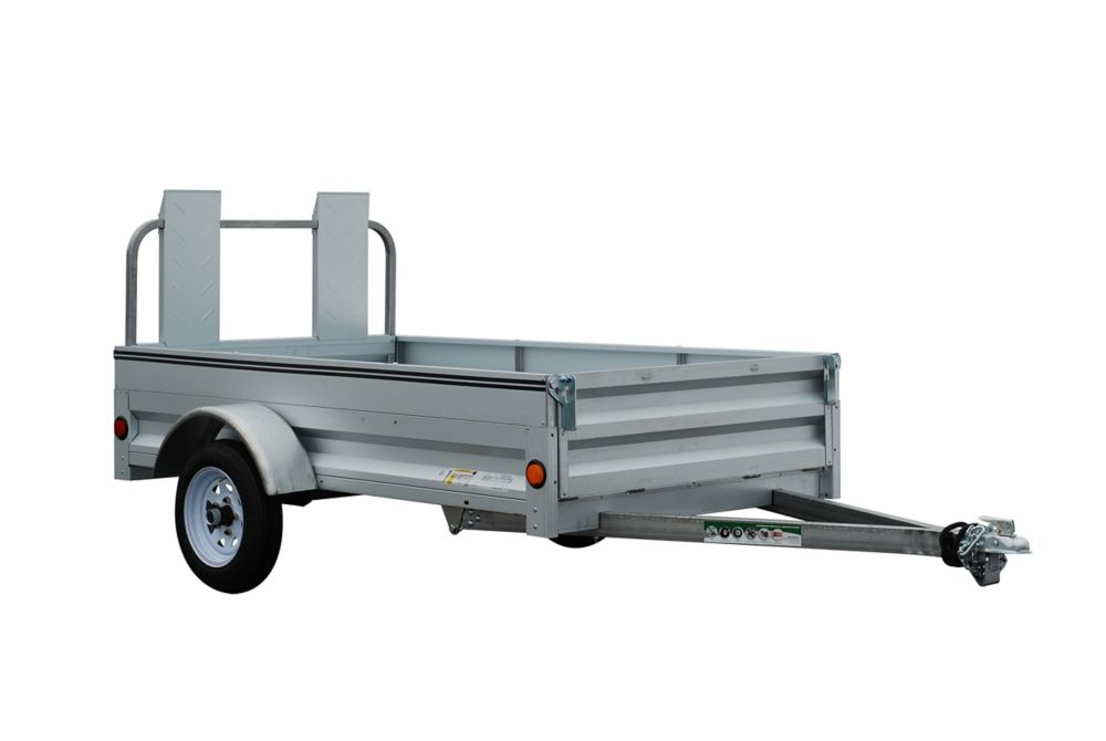 4 Foot x 7 Foot Galvanized Utility Trailer 48-084-TLR