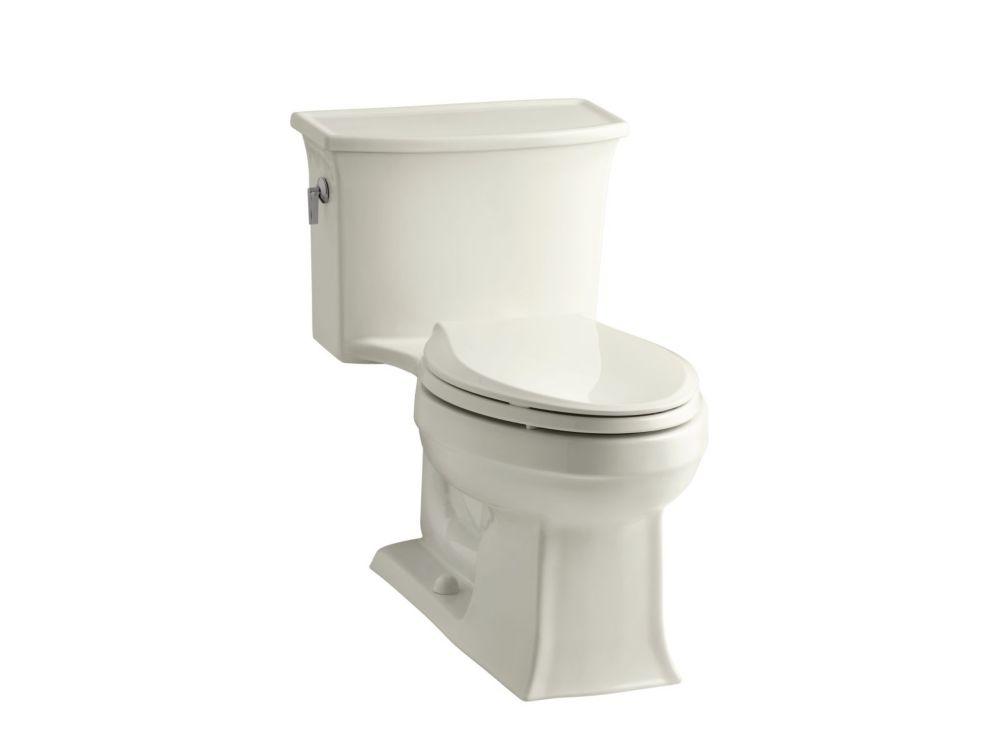KOHLER Archer 1-Piece 4.8 LPF Single Flush Elongated Toilet in Biscuit