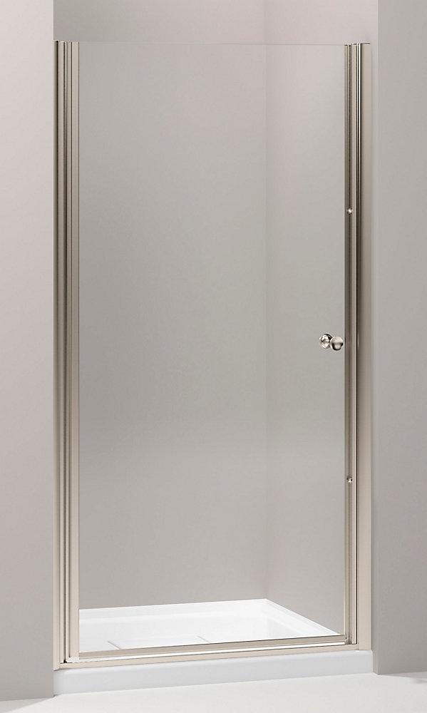 Fluence(R) Frameless Pivot Shower Door With Crystal Clear Glass