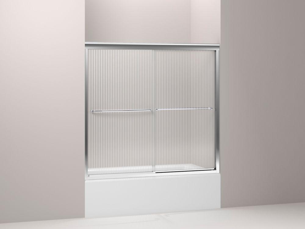 kohler fluence r porte de douche baignoire contournement sans cadre avec verre falling lines. Black Bedroom Furniture Sets. Home Design Ideas