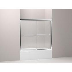 KOHLER Fluence(R) Frameless Bypass Bath Shower Door With Falling Lines Glass