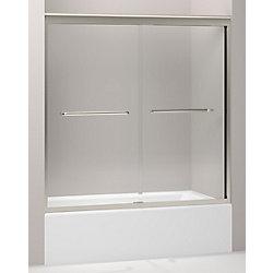 KOHLER Porte de bain coulissante Fluence, 58 5/16 x 56 5/8 a 59 5/8 po, avec verre Crystal Clear de 3/8 po d'epaisseur