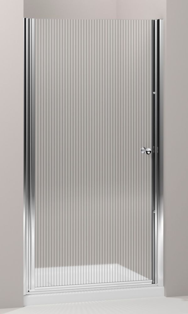 Fluence(R) Frameless Pivot Shower Door With Falling Lines Glass K-702404-G54-SH Canada Discount