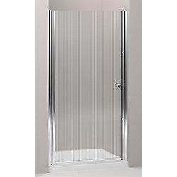 KOHLER Porte de douche pivotante Fluence, 65 1/2 x 30 - 31 1/2 po, avec verre Falling Lines de 1/4 po d'epaisseur