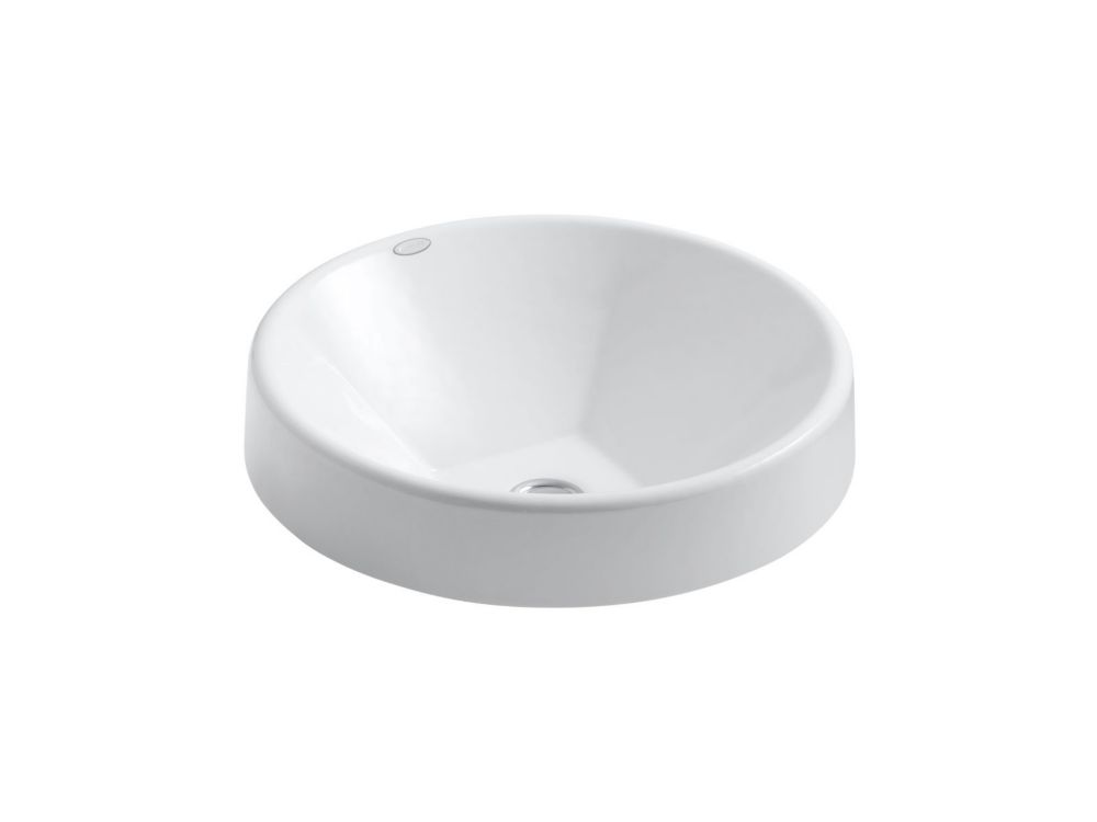 KOHLER Inscribe(R) Wading Pool(R) 16.5 inch round bathroom sink