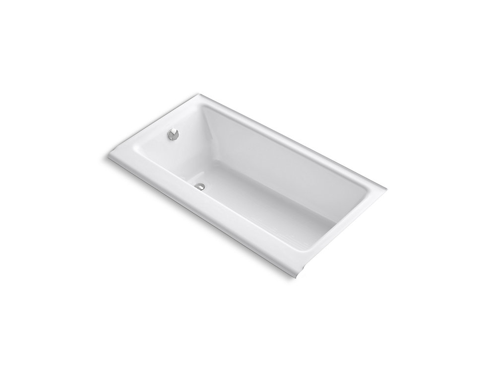 "Highbridge(R) 60"" x 32"" alcove bath with enameled apron and left-hand drain"