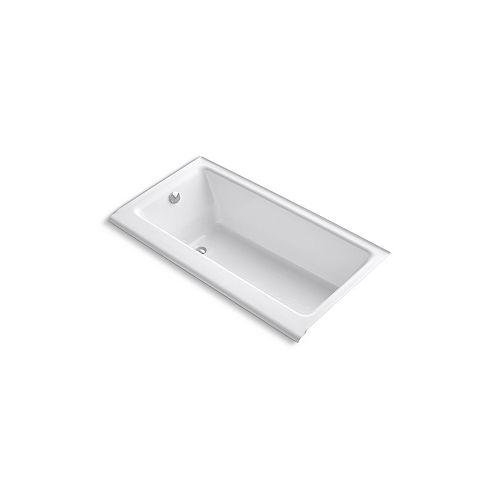 "KOHLER Highbridge(R) 60"" x 32"" alcove bath with enameled apron and left-hand drain"