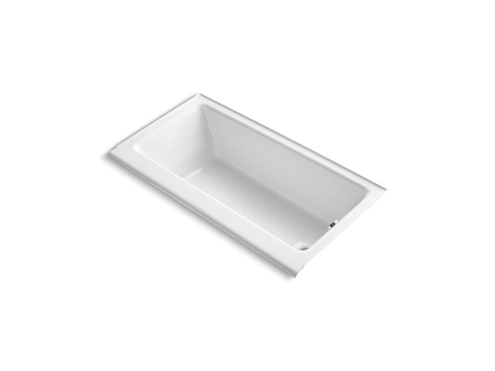 KOHLER Highbridge 5 Feet Cast Iron Bathtub with Enameled Apron and Right-Hand Drain