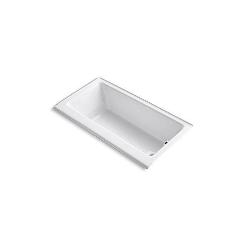 "KOHLER Highbridge(R) 60"" x 32"" alcove bath with enameled apron and right-hand drain"