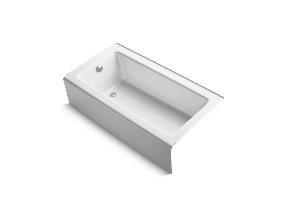 KOHLER Bellwether 5 ft. Left Drain Rectangular Alcove Soaking Tub in White