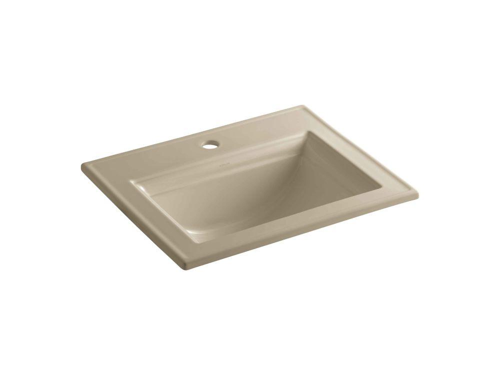 Memoirs(R) lavabo à rebord intégré avec design Stately et orifice unique de robinet